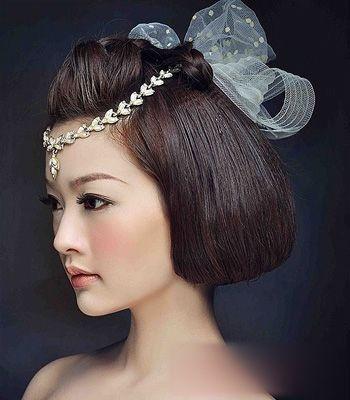 短发新娘编发盘头造型介绍 流行的新娘发型